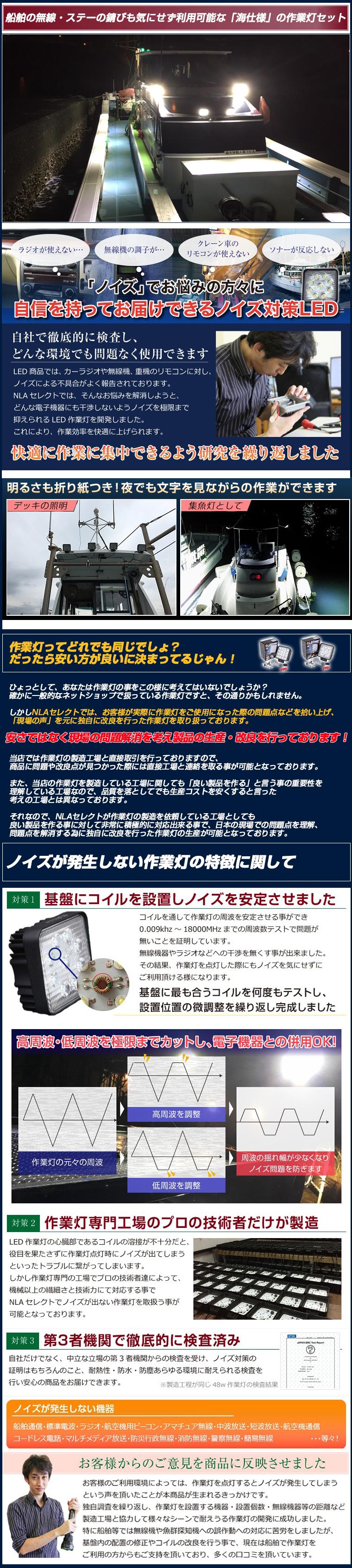 48w海仕様作業灯・商品説明1