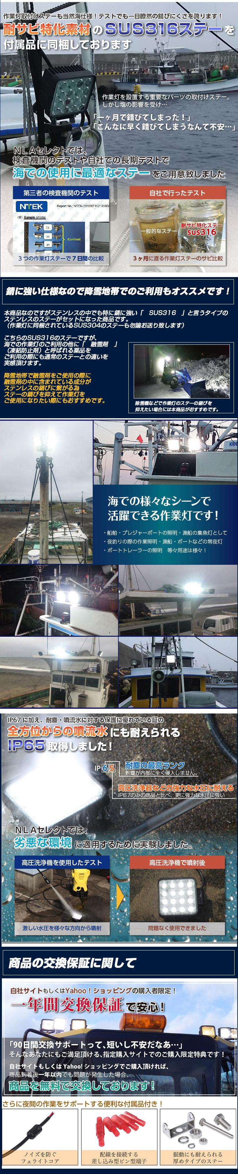 48w海仕様作業灯・商品説明2