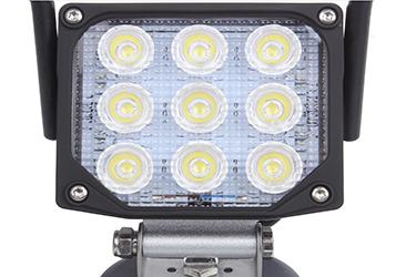 充電式LED作業灯レンズ拡大写真